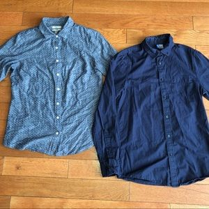 2 button down shirts